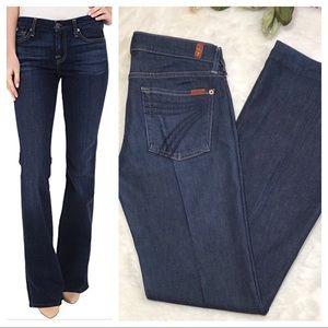 7 FOR ALL MANKIND Dojo Wide Leg Jeans, 29 x 35